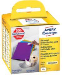 Avery-Zweckform Rol met etiketten Compatibel vervangt DYMO, Seiko 11354, S0722540 57 x 32 mm Papier Wit 500 stuk(s) Weer verwijderbaar Universele etiketten