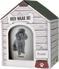 Witte Paper dreams Mok – Poedel – Dier – Puppy – Hond – Dieren – Mokken en bekers – Keramiek – Mokken - Porselein - Honden – Cadeau - Kado