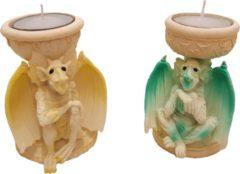 Inspiring Minds Fantasy beeldje waxine monsters set - Waxinelichtjes set 9 cm | GerichteKeuze