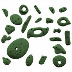 Groene KMZ Holds - Spax 1 - Klimgrepenset 22 st. olijfgroen