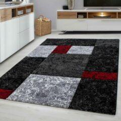Ayyildiz Design Vloerkleed - Hawaii - Zwart / Rood - 80x150 CM - Laagpolig