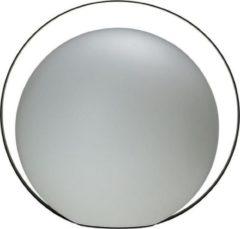 Dyberg Larsen Tafellamp Saturn 35 X 40 Cm Staal/glas Wit/zwart
