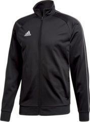 Zwarte Adidas Core 18 Polyester Trainingsjas - Maat M - Mannen - zwart
