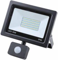 Gele Hofftech LED Straler / Bouwlamp SMD Met Sensor - 50 Watt - IP65
