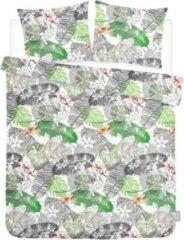 ISeng Leaves - Dekbedovertrek - Tweepersoons - 200x200/220 cm + 2 kussenslopen 60x70 cm - Groen