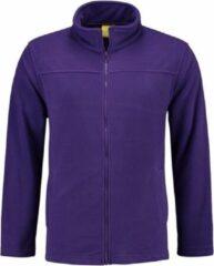 L&S Paars fleece vest met rits voor dames M (38)