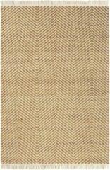 Brink & Campman Brink en Campman - Atelier Twill 49206 Vloerkleed - 200x280 cm - Rechthoekig - Laagpolig Tapijt - Retro, Scandinavisch - Beige, Oranje