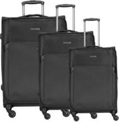 Travel Line 7600 4-Rollen Kofferset 3tlg. D&N schwarz
