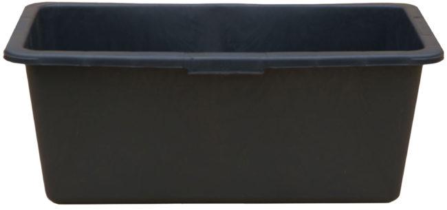 Afbeelding van Zwarte Toolland Gripline - Rechthoek speciekuip - 90 Liter