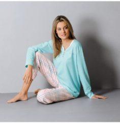 Hajo Schlafanzug Single-Jersey Hajo mint/rosa