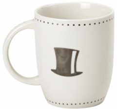 Witte Merkloos / Sans marque Mok Mr hoge hoed 10 cm - Huwelijk / bruiloft / housewarming