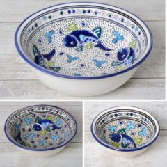 Blauwe Salade set 3 delig Poisson   SS.AD.3D   Dishes & Deco