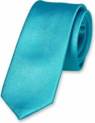 Blauwe E.L. Cravatte Kinderstropdas - Turquoise - 100% Zijde
