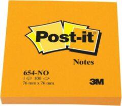 Post-it® Notes, Neon Oranje, 76 x 76 mm, 6 Blokken, Individueel Verpakt, 100 Blaadjes/Blok