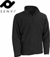 Senvi Basic Fleece Vest - Thermisch laag microfleece - Kleur Zwart - Maat XS