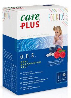 Afbeelding van Care Plus ORS zakjes (Oral Rehydration Salt) voor kinderen - Framboos