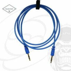 GoodvibeZ Audio Kabel 3.5mm Jack 1M male to male | Quality Cable | voor Auto Mobiel MP3-Speler Koptelefoon Speaker Mixer Headset | Blauw