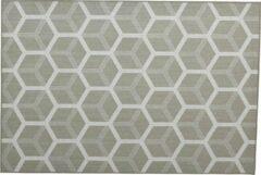 Groene Garden impressions Buitenkleed- Gretha Hexagon karpet - 200x290 green
