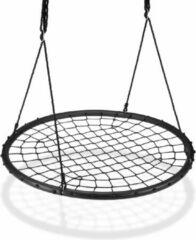 Zwarte Relaxdays Nestschommel met net - kinderschommel - net schommel - tuinschommel - 120 cm