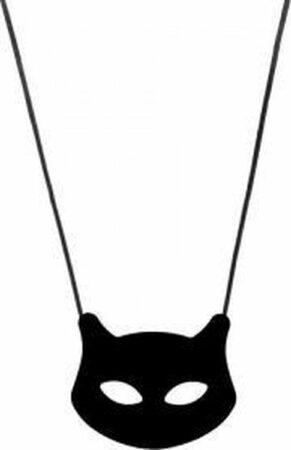 Afbeelding van Zwarte Chewigem kauwsieraad Cat