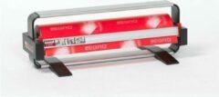 Zwarte MTis LEGRO Papierrolhouder Tafelmodel incl. voetsteunen tbv 1 rol- Breedte 100 cm - m lang - Breedte 100 cm - Standaard 2in1 mes (1 zijde kartel + 1 zijde glad) - - 911.1100.1.11
