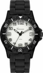 Garonne kinderhorloge 35 mm staal/rubber zwart-wit KQ12Q464