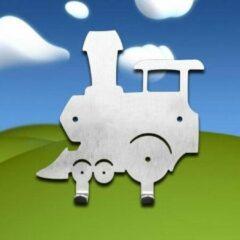 Roestvrijstalen Designkapstokjes.nl Designkapstokje Trein - kado - cadeau Sint - kerst cadeau - duurzaam - 100% recyclebaar - kapstok trein - kapstok rvs