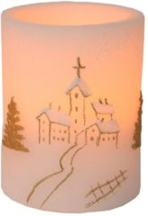 2er Set LED-Wachskerze mit Kirchen-Motiv Star Trading weiss