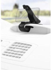 Zwarte Hama Uni-Smartphone-klemhouder, voor apparaten tot 9 cm breed, dashboardmontage