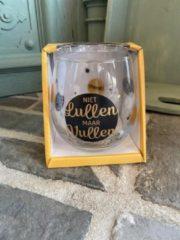 Gouden Creaties van hier Wijn - water glas / Niet lullen maar vullen / wijnglas / waterglas / leuke tekst / moederdag / vaderdag / verjaardag / cadeau