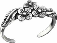 Zilverana Zilveren teenring bloem motief | Silver Flowers Toe Ring | Sterling 925 Silver (Echt zilver)