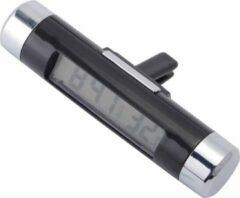 Zwarte WiseGoods - Premium Auto Klok - LCD Klok met Temperatuur - Autoklok - Elektronische Klok - Met Clip - 2-in-1 Digitale Klok Auto