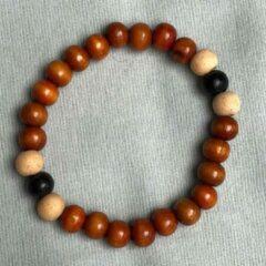 Zwarte Wellness-House | Mantra Beads Brown | Mantra | Meditatie | Armband | Zen Armband | Zen Sieraden | Zen Cadeau
