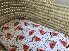 Rode Petit Bandit Hoeslaken Wieg Watermeloen