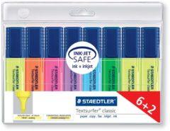 Staedtler Textmarker Textsurfer® classic 8 stuks/pack Geel, Rood, Roze, Blauw, Turquoise, Oranje, Groen, Violet 1 mm, 5 mm