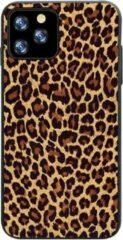 Able & Borret Smartphone hoesje | Telefoon hoesje | Anti shock | Panterprint | Oranjebruin | iPhone 11 Pro