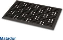 Zwarte Merkloos / Sans marque Rubbermat Matador 45 x 75 cm