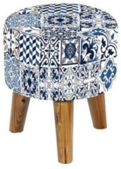 Hocker Blue Tiles HTI-Line Blue Tiles
