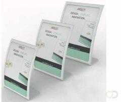 Transparante Deflecto gebogen folderhouder ft A6