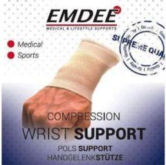 Emdee Elastische ondersteuning pols huidkleur maat M 1 Stuks