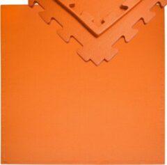 Oranje Eyepower 12mm dikke vloerbeschermingsmat 90x90cm trainingsmat Yoga-PuzzleMat uitbreidbaar