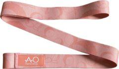 Roze Athletics Official Fitness Elastiek – Katoenen Power Resistance Band - Medium Weerstandsband - Peachy Pink