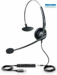 Zwarte Yealink UH33 - USB Headset IP phone -V83 vereist T4s-T5