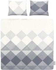 ISeng Block - Dekbedovertrek - Lits-jumeaux - 240x200/220 cm + 2 kussenslopen 60x70 cm - Grijs
