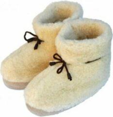 Gebroken-witte Orsone of Sweden Woolwarmers MAAT 38 Unisex Sloffen pantoffels - Naturel