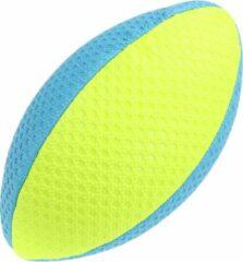 Toi-Toys rugbybal 25 cm neon blauw/geel