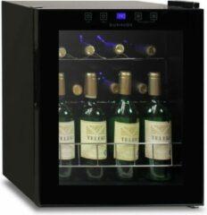 Zwarte Dunavox HOME 16 - Wijnkast 15 flessen - 1 T°- Glasdeur - Greeploos