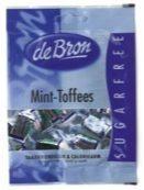 De Bron Mint toffee suikervrij 90 Gram