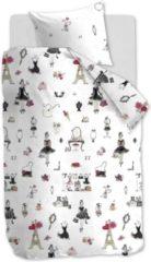 Koraalrode Hanneke de Jager Beddinghouse Kids Paris Girl - Dekbedovertrek - Eenpersoons - 140x200/220 cm + 1 kussensloop 60x70 cm - Pink
