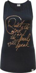 "Zwarte Yoga Tank-Top ""Sana"" - anthracite/copper L Loungewear shirt YOGISTAR"